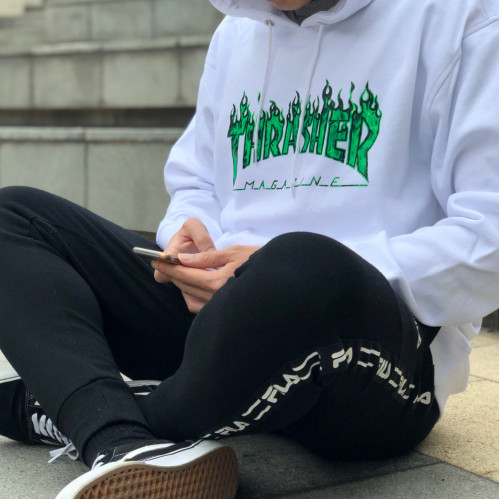 Thrasher Ghost Flame Hooded