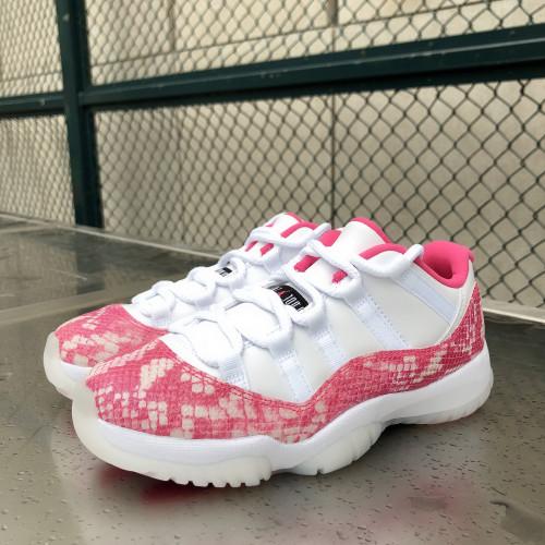 Jordan 11 Low Snake Skin Pink