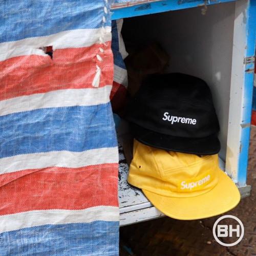 Supreme Jacquard Logos Twill Camp Cap