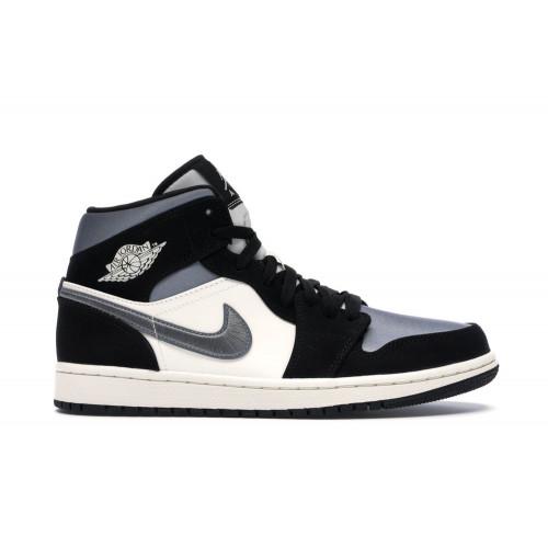 Jordan 1 Mid Satin Grey Toe