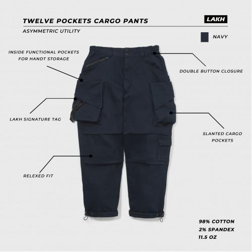 LAKH Supply Twelve Pockets Cargo Pants