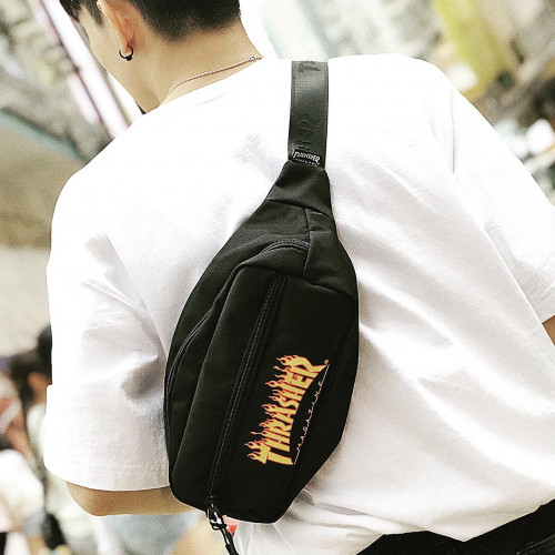 Thrasher Flame Fanny Pack Waist Bag