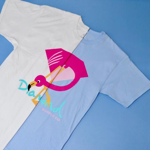 Diamond Flamingo Sign Tee