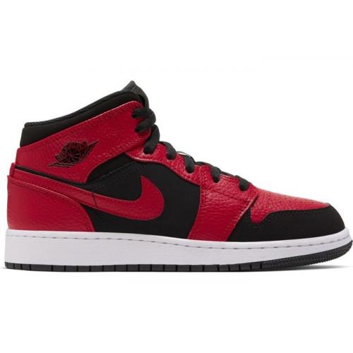 Air Jordan 1 Mid GS Black Red