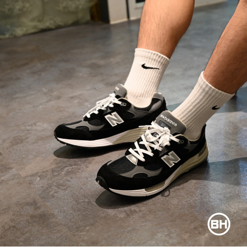 New Balance M992EB - Made in the USA Black & Silver | END.